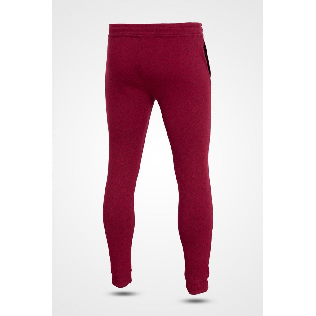 Męskie spodnie dresowe 4F burgund melanż