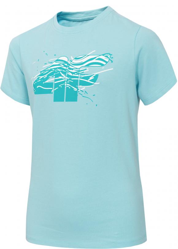 Koszulka chłopięca 4F HJL20-JTSM015 34S jasny błękit