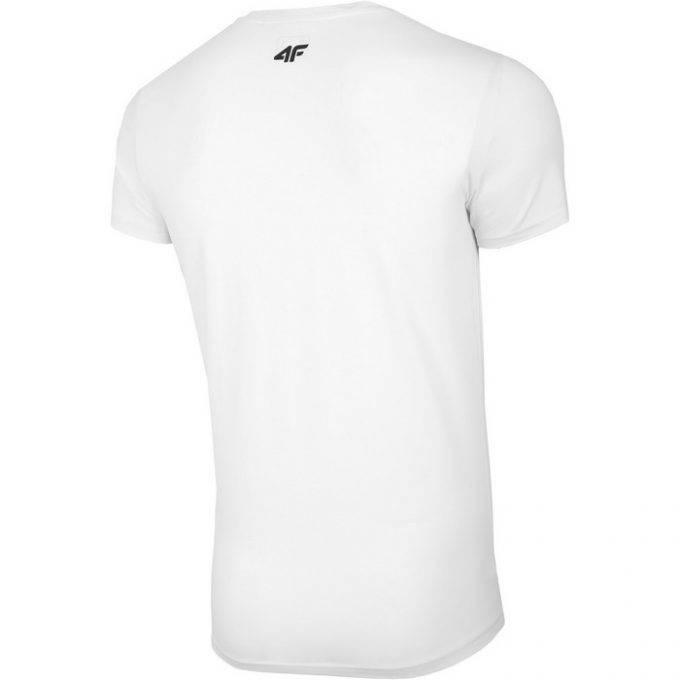 Męski T-Shirt 4F NOSH4-TSM005 10S Biała