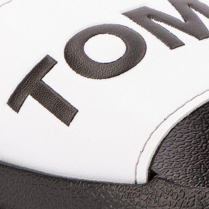Klapki Tommy Hilfiger Slide Sandal EM0EM00105 White 100