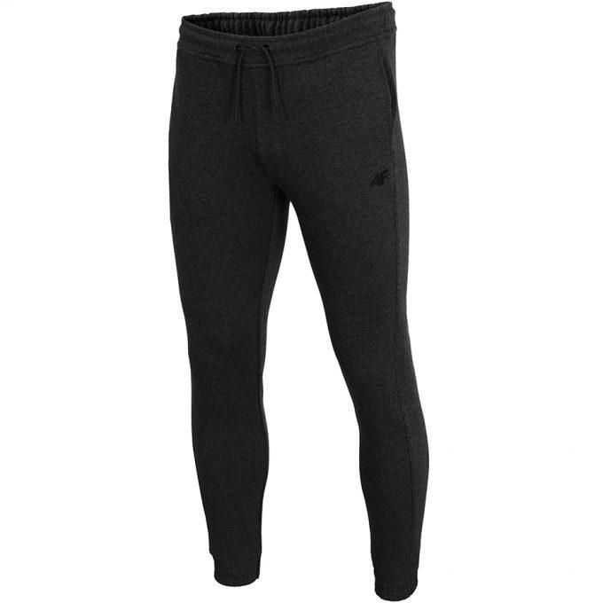Męskie spodnie dresowe 4F H4Z19-SPMD001 23M grafitowe
