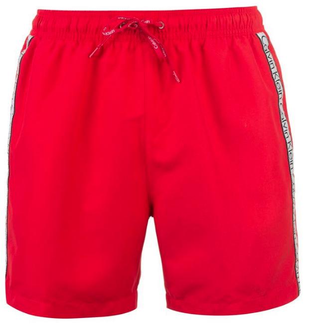 Spodenki męskie Calvin Klein SWIMWEAR KM0KM00181 628 czerwone