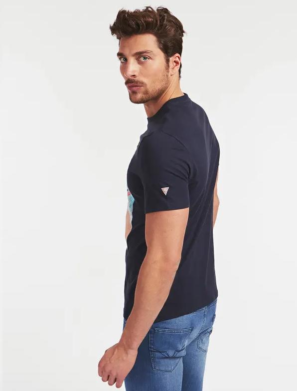 Męski T-shirt GUESS czarny M0GI66I3Z00-JBLK