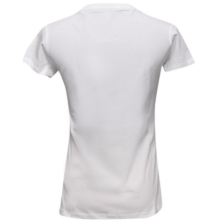 Damski T-shirt GUESS biały O94I02J1311 – A009 slim fit