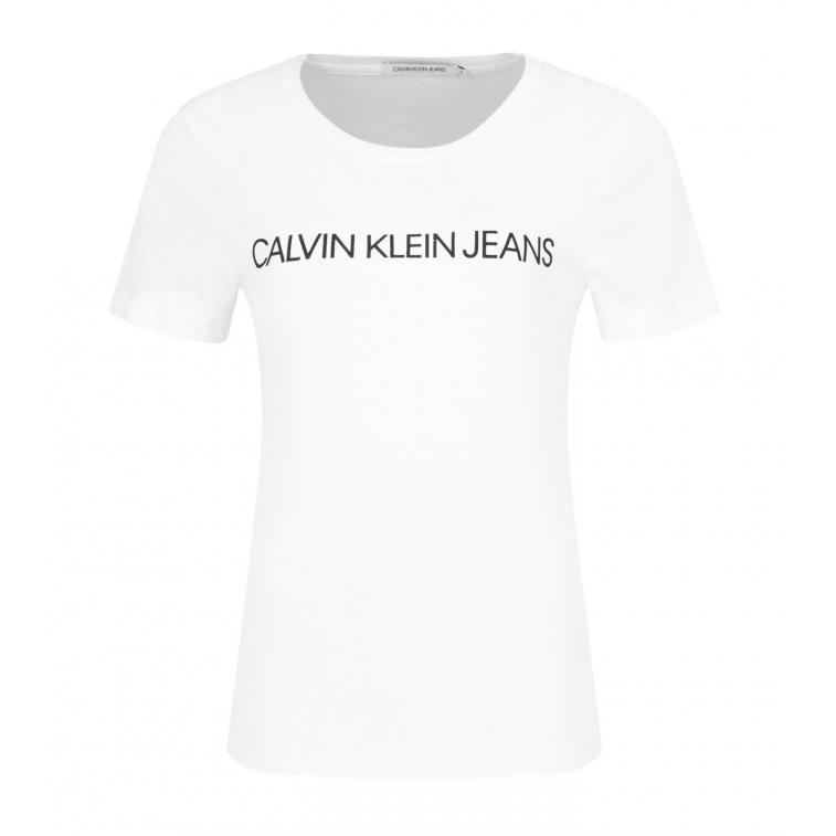 T-Shirt damski Calvin Klein Jeans J20J207879 112 slim fit
