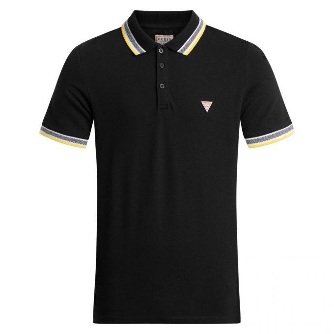 Męskie Polo GUESS czarne