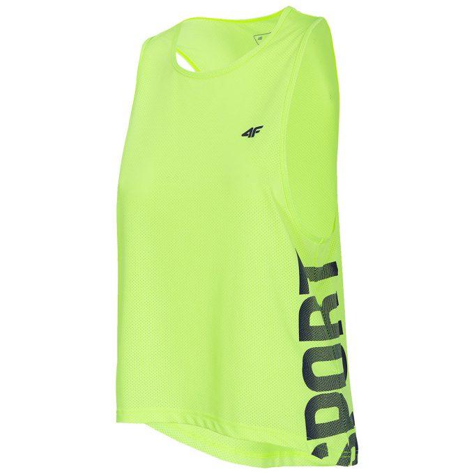 Damski T-shirt granatowy, soczysta zieleń