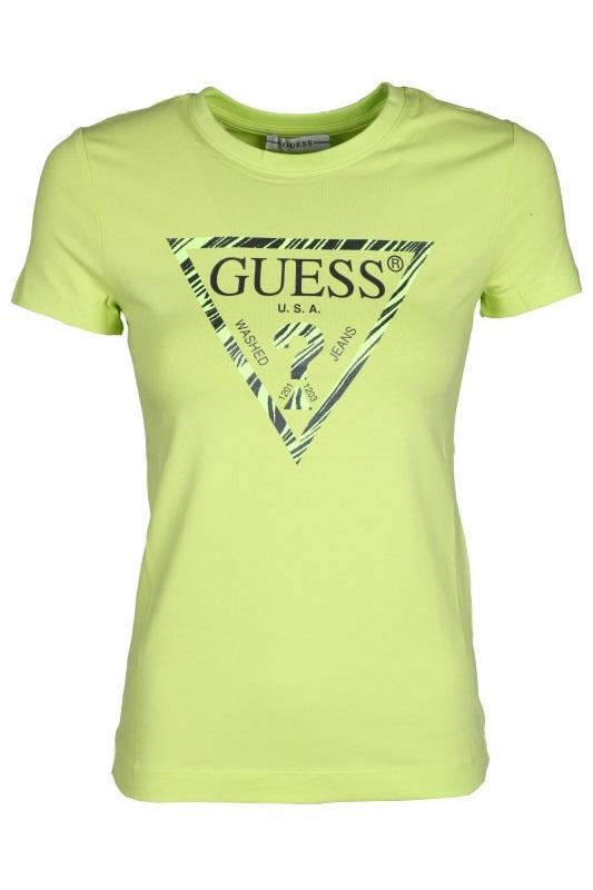 Damski T-shirt GUESS limonkowy