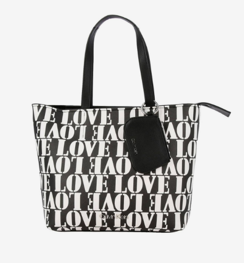 Damska torebka Calvin Klein czarno-biała