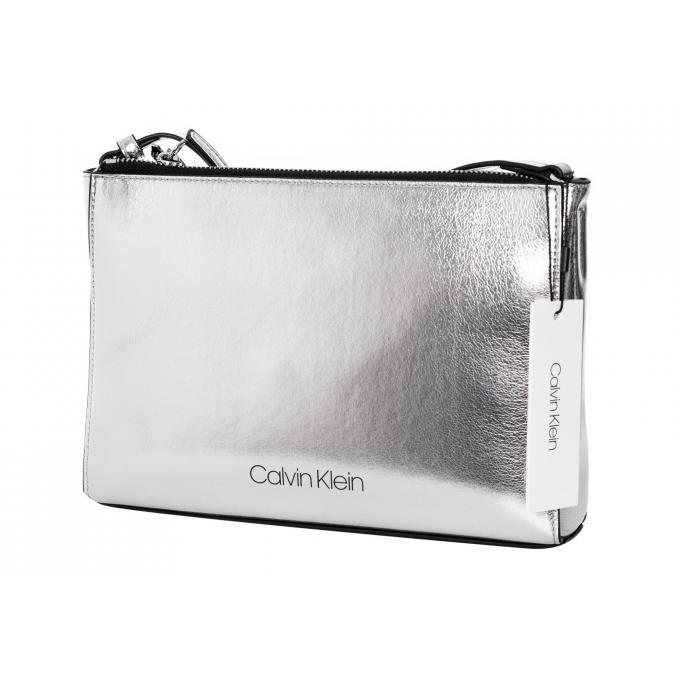 Damska torebka Calvin Klein srebrna