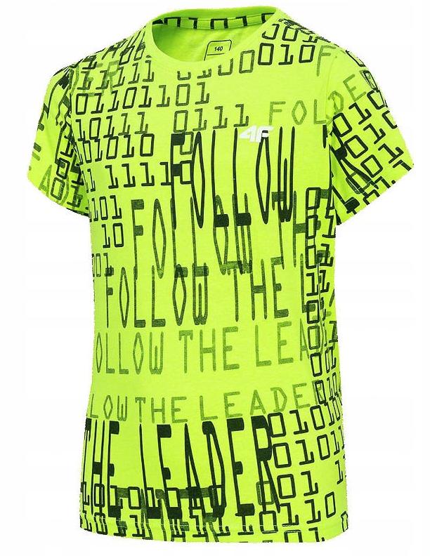 Chłopięcy t-shirt 4f zielony neon
