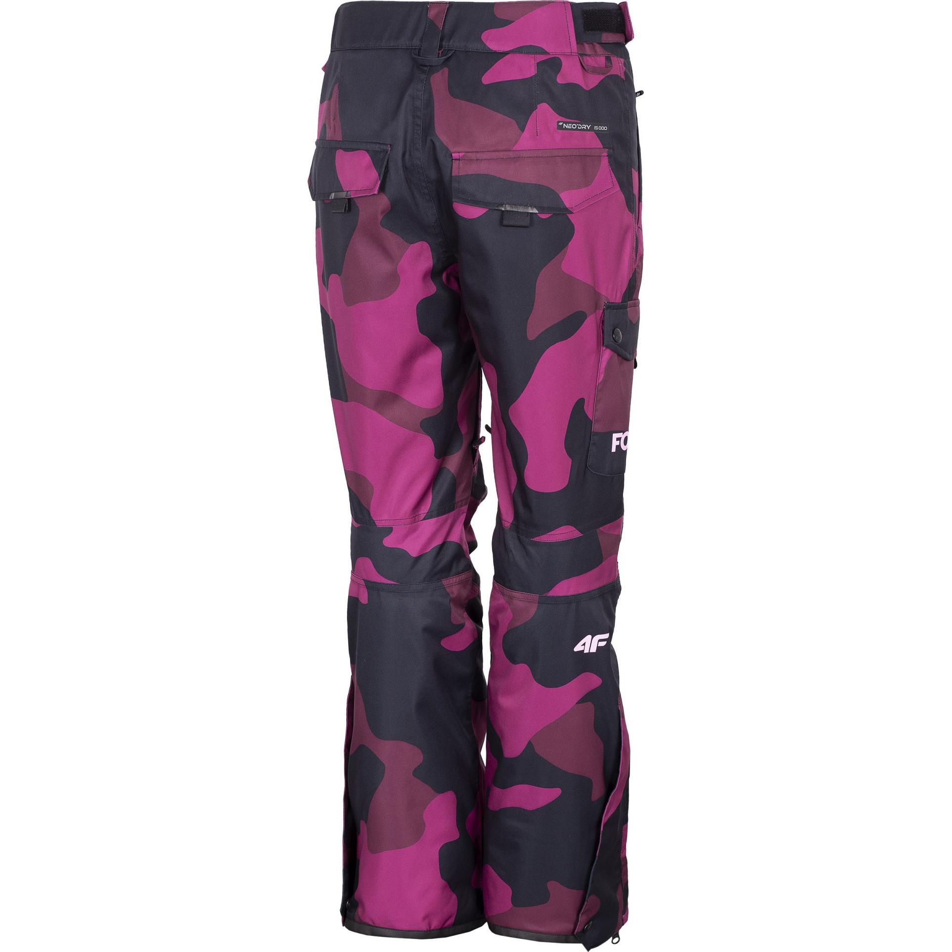 Damskie spodnie 4F snowboardowe multikolor