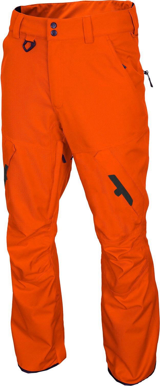 Męski spodnie 4F snowboardowe pomarańcz neon