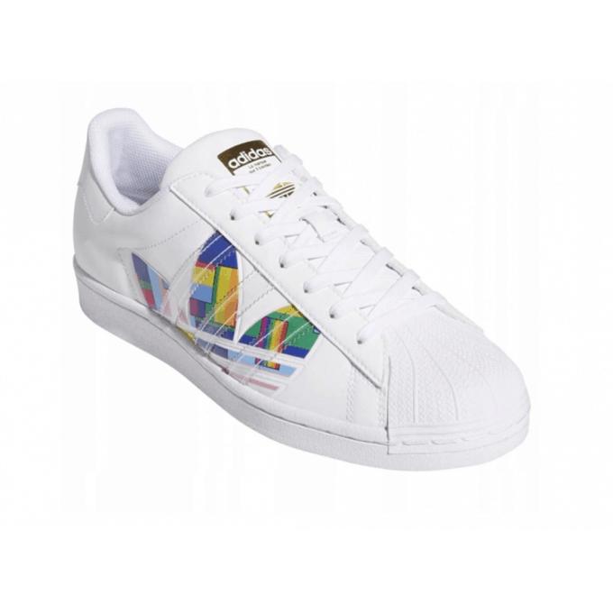 Buty damskie adidas SUPERSTAR PRIDE białe