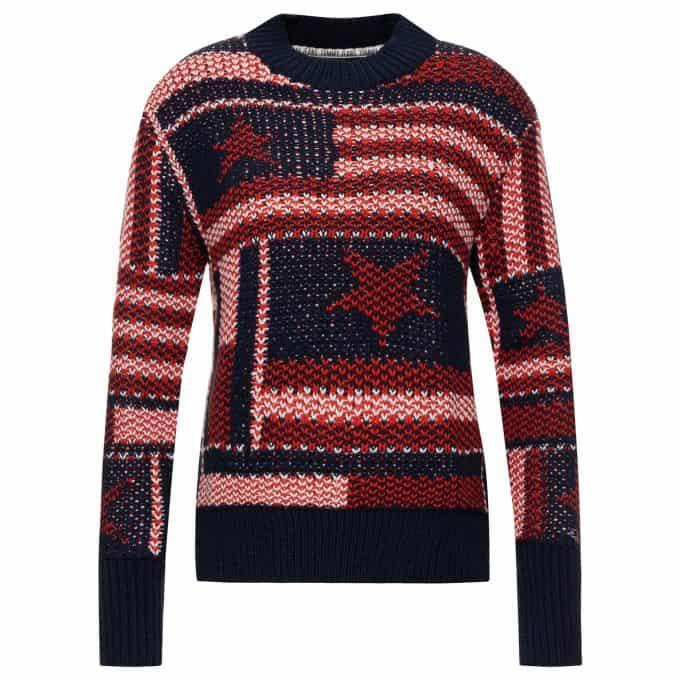 Sweter damski Tommy Jeans czerwony