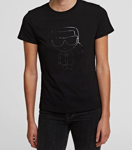 T-shirt damski KARL LAGERFELD czarny