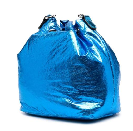 Torebka damska KARL LAGERFELD metaliczny niebieski