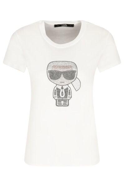 T-shirt damski KARL LAGERFELD biały